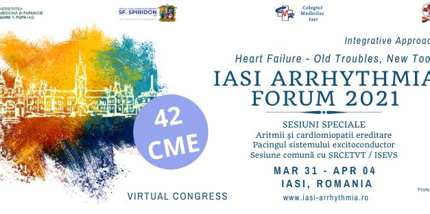 Iași Arrhythmia Forum 2021 debutează pe 31 martie