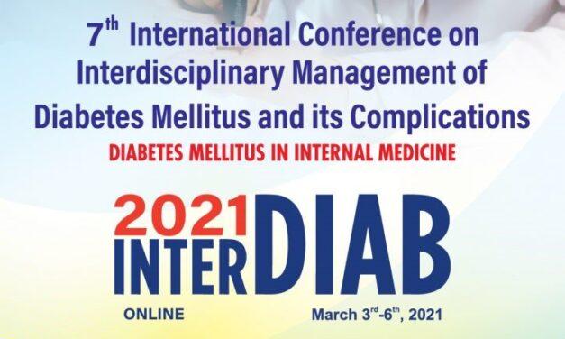Conferința Internațională Managementul Interdisciplinar al Diabetului Zaharat și al Complicațiilor sale (Interdiab) se va desfășura în premieră online, între 3 și 6 martie