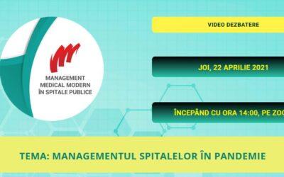 """Comunitatea OSC – Spitale Publice: Pe 22 aprilie va avea loc webinarul """"Managementul spitalelor în pandemie"""""""
