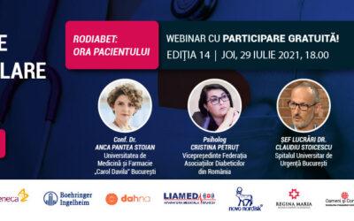 Complicațiile cardiovasculare în diabet: Tema întâlnirii de joi, 29 iulie, ora 18:00 a comunității RoDiabet