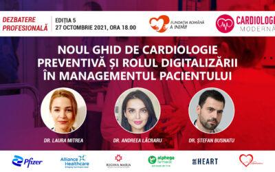Despre noul ghid de cardiologie preventivă și rolul digitalizării, la întâlnirea CardiologieModernă.ro din 27 octombrie
